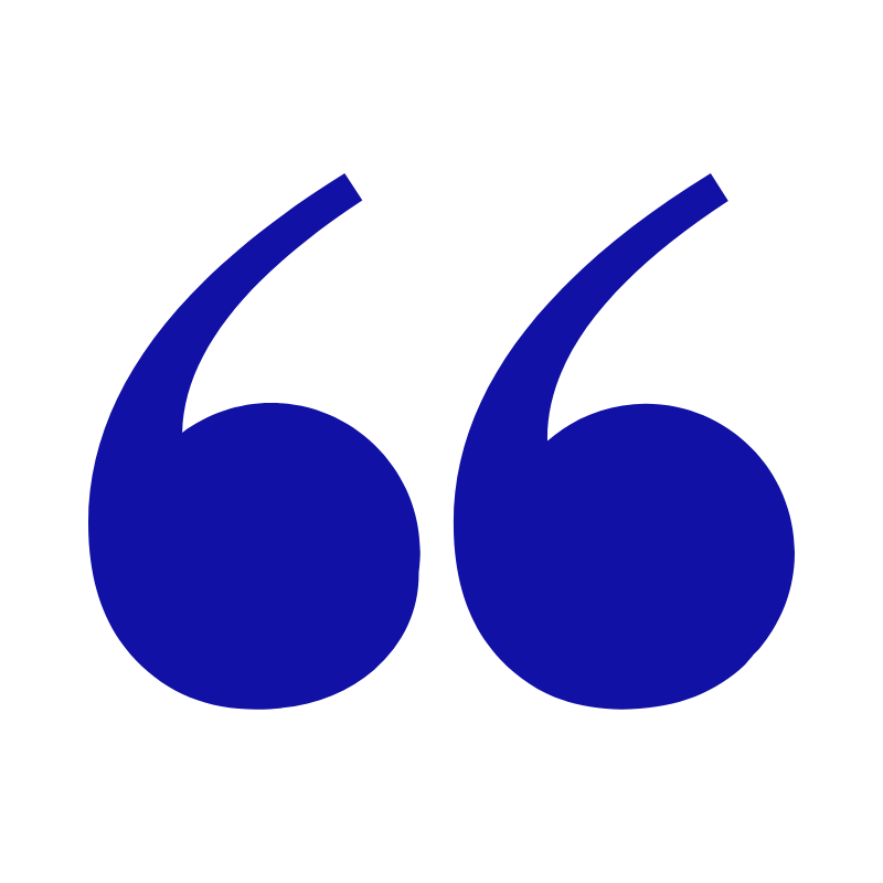 blue quotation marks